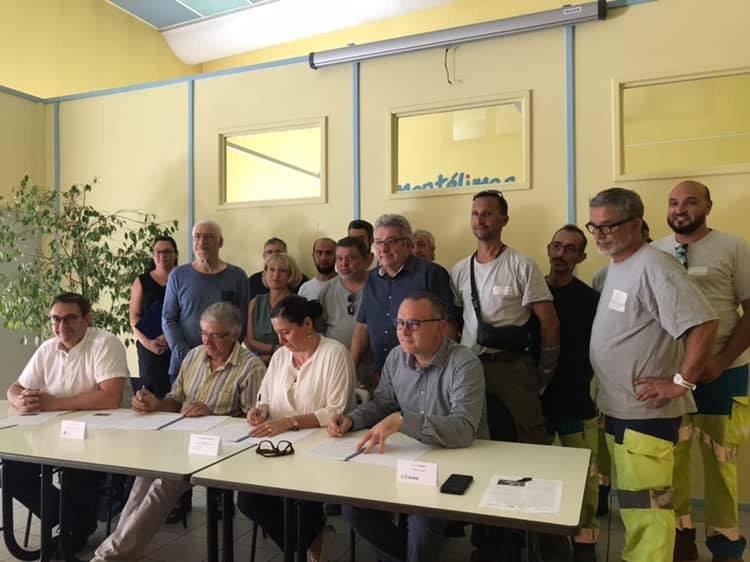 Signature entre MAH, LPO et SUEZ