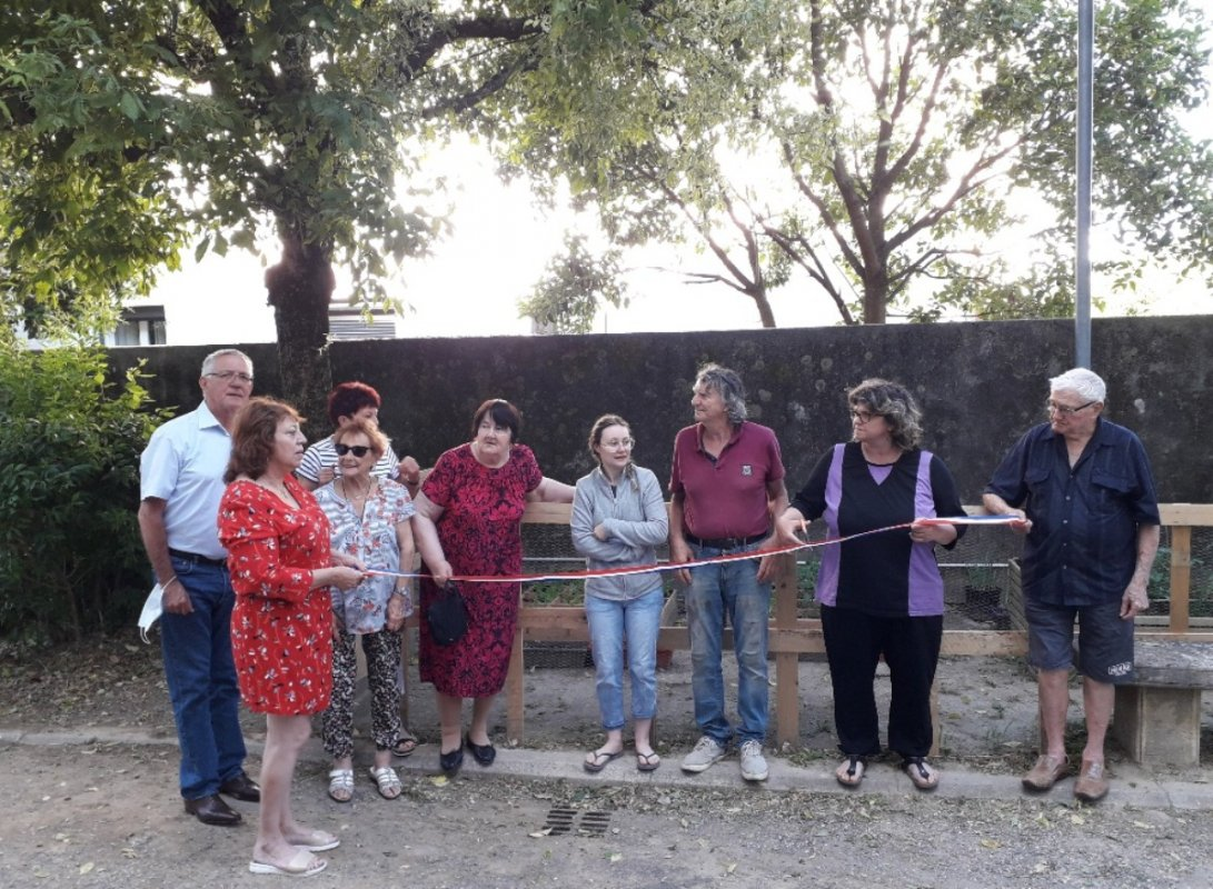 INAUGURATION DES CARRES POTAGERS A BAVIERE